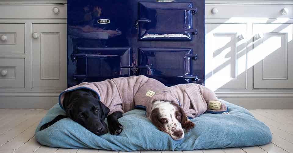 Hondenbadjas, voor als het echt nat is